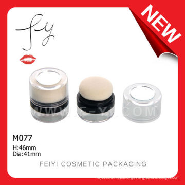 Nnique With Mirror Loose Powder Puff Containers