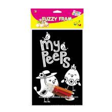 Fuzzy DIY Poster Peeps Decoración de Pascua
