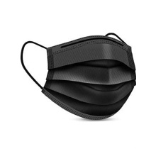 3 Ply Face Mask Black Color Disposable Protective Mask Earloop Non Woven Civil and Face Mask