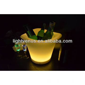 RGB multi color changing illuminated led ice bucket standing cooler for party