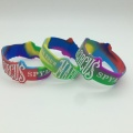 Custom Swirl Figured Rubber Bracelets