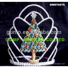 Tiara y corona del árbol de Navidad