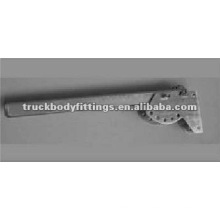 Truck body fittings titling lateral protection