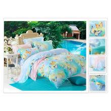 40 * 40s 133 * 72 impression réactive Purebest 100% tencel printing bedding set