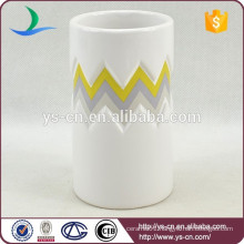 YSb40066-01-t intaglio distinctive ceramic bathroom accessories tumbler