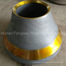 OEM Cone Crusher Verschleißteil Bowl Liner Mantle Concave Guard Plate