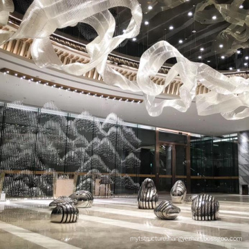 Mall Interior Decoration Gold Stainless Steel Chandelier