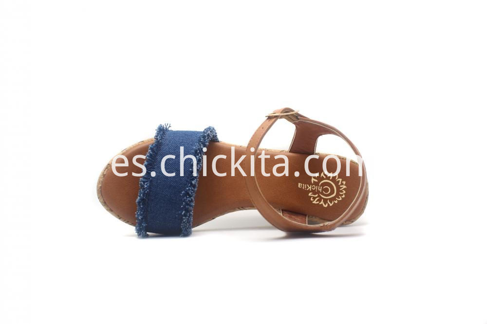 Girl S Cowboy Cork Wrapped Wedge