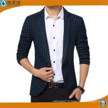 Nouvelle Arrivée Blazer Hommes Coton Costume Veste Slim Fit Blazers