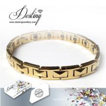 Schicksal Schmuck Kristalle von Swarovski Gold Armband