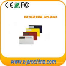 Tarjeta de crédito comercial personalizada Unidad flash USB con logotipo gratuito