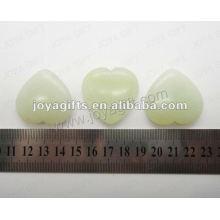 35MM Jade de la nueva forma de la forma del corazón, alto pulido, alta calidad, piedra natural de la forma del corazón
