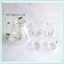 Claro / decorar cristal tetera tetera de vidrio