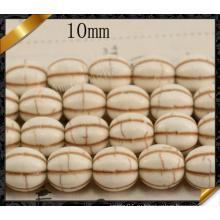 Бусины тыквы круглые, бусины Howlite, бижутерия из горячих бисером (GB0114)