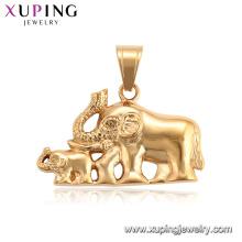 34203 XUPING pendentif charme éléphant animal plaqué or neutre