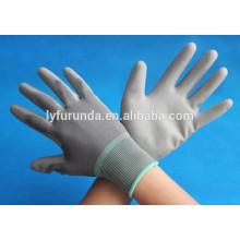 13 gauge PU coated safety working nylon glove PU coated work gloves