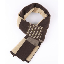Men′s Winter Wool Polyester Nylon Acrylic Woven Fashion Scarf (YKY4606)