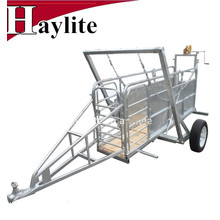 Portable Sheep Goat Yard Panel Trailer for Livestock Farm Use With Drafter