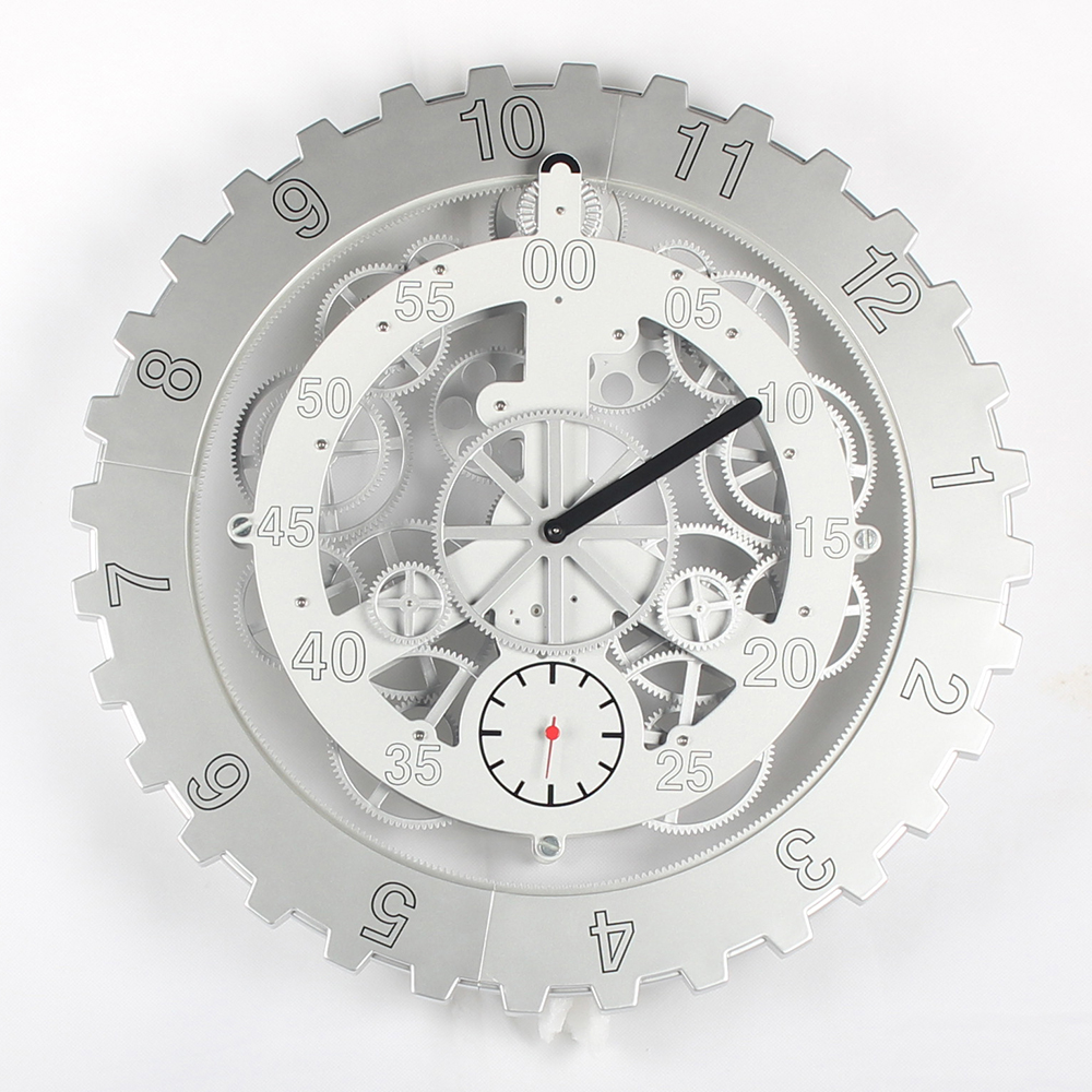 Giant White Wall Clock