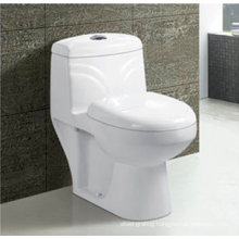 Bathroom Ceramic S-Trap P-Trap Washdown One-Piece Toilet Bowl in White Color