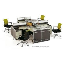 Cabine de poste de travail moderne de meubles de bureau de 4 personnes à vendre