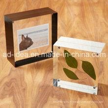 Support acrylique d'affichage de cadre de photo multicolore / support acrylique clair d'exposition