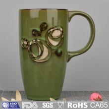 Seidendruck Steinzeug Becher mit Handmalerei