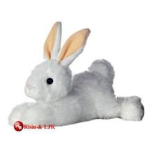 Meet EN71 and ASTM standard stuffed plush white rabbit toy