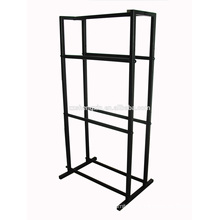 Black Metal Clothes Rack, High Steel Coat Hanger for Hanging