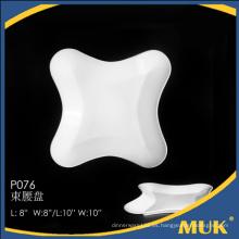 Eurohome al por mayor producto de alta calidad real granel blanco placa de cena de cerámica