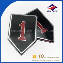 Esmalte de liga de zinco personalizado de boa qualidade placa de nome barato