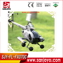 Big 2.4g 4ch flybarless r/c helicopter hobby FX070C rc military helicopter