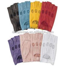 fingerless leather gloves make in sheepskin