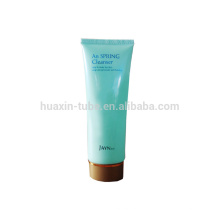 Skin cleanser plastic cosmetic packaging with screw cap