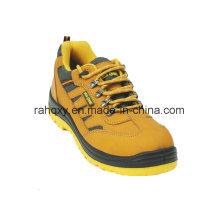 Couche supérieure Nubuck et jaunes doublure des chaussures de sécurité (HQ08003)