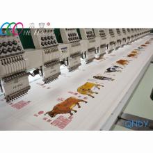18 Köpfe hohe Geschwindigkeit 1200 u/min kommerzielle flachen Bett Stickmaschine