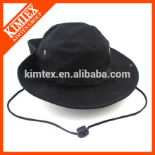 Men Black Reversible Cotton Bucket Hat with your Own Logo