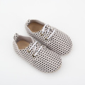 Zapatos de cuero de punto Baby Boy Girl Oxford