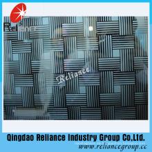 4mm / 5mm / 6mm Farbe Designed Art Glas / Hotel Dekoration Glas / Acid geätztes dekoratives Glas