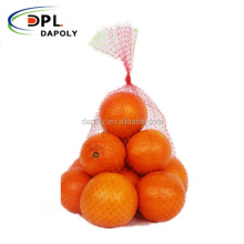 Made in China poly mesh net packing bag for fresh fruit apple orange pear net mesh fruit packaging bags