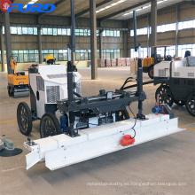 Máquina de enrasado de hormigón de cemento láser de cuatro ruedas para montar