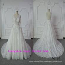 Elegante vestido de novia sirena