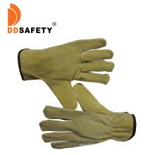 Ddsafety Pig Split Leather Motocros Driver Gloves