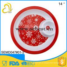 Bandeja grande de venda quente da microplaqueta do serviço do Natal da placa da melamina da bandeja 2