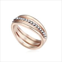 VAGULA золотой горный хрусталь смеси цвет цинк сплава обручальное кольцо