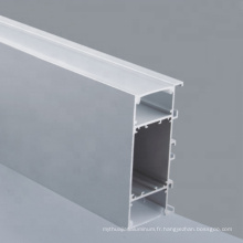 Profilé d'extrusion d'aluminium personnalisé avec diffuseur en PC