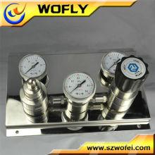 Regulador de pressão semi-automático de argônio em aço inoxidável