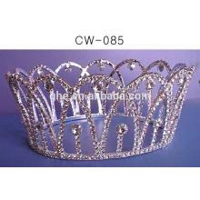 Kundenspezifische tiara gefälschte krone plastik kinder prinzessin tiara großhandel krone mit