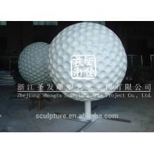 Stainless steel ball sculpture golf sculpture metal golf sculpture