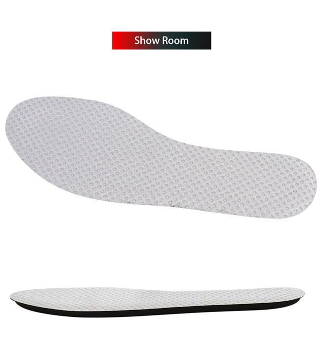 Showroom with black and grey foam cotton insoles